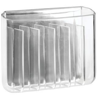 AFFIXX Clear 6-Pocket Toothbrush Holder