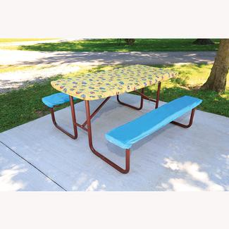 Deluxe Picnic Tablecloth Seat Covers Direcsource Ltd - Picnic table bracket kit