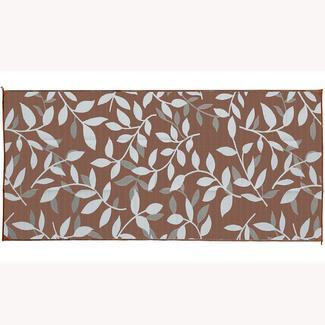 Reversible Leaf Design Patio Mat, 8' x 16', Brown/Beige