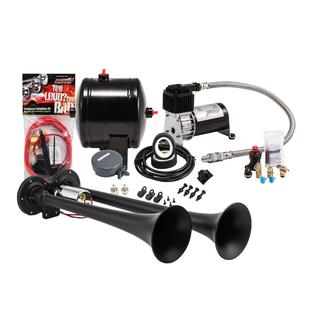 Compact Black Dual Truck Air Horn Kit