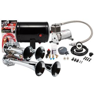 Compact Chrome Quad Truck Air Horn Kit