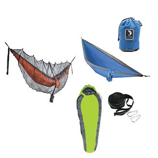 Tribe Provisions Adventure Hammock Kit, Green&#x2f&#x3b;Blue