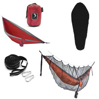 Tribe Provisions Adventure Hammock Kit, Red/Black