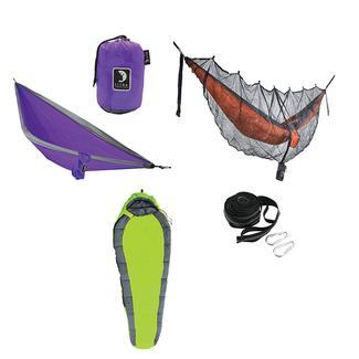 Tribe Provisions Adventure Hammock Kit, Green/Purple