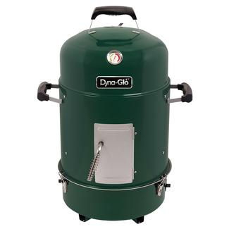 Dyna-Glo Compact Charcoal Bullet Smoker, High Gloss Forest Green