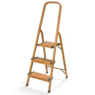 3-Step Ultralight Ladder, Wood Grain