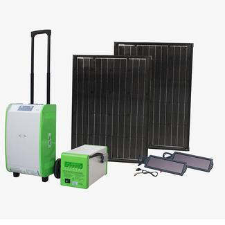 Pure Sine Indoor/Outdoor Portable Solar Generator Kit, 1800W, with Auxiliary Battery Box and 180W of Solar Power