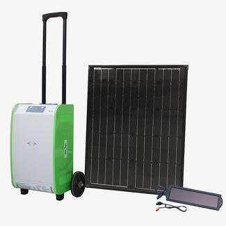 Pure Sine Indoor/Outdoor Portable Solar Generator Kit, 1800W, with 100W of Solar Power