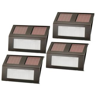 Nature Power Bronze Solar-Powered Step Lights 4-Pack