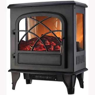 Comfort Zone Digital Infrared Fireplace, Black