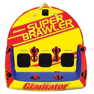 Gladiator Super Brawler 3-Person Towable Tube With Lightning Valve