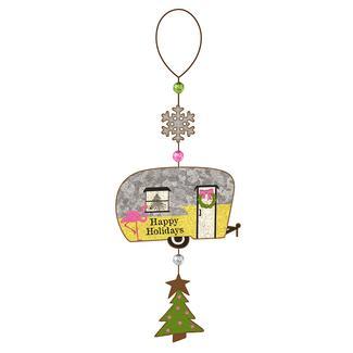 Happy Holidays Trailer Ornament