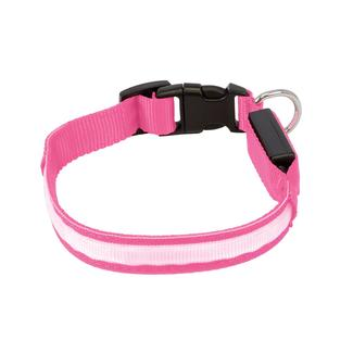 Illuma Collar Rechargeable Illuminated Pet Collar, Large, Pink