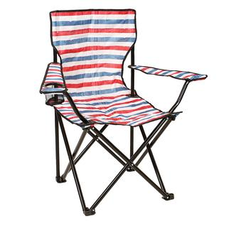 Red, White & Blue Striped Chair