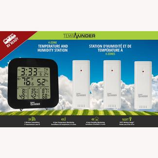 TempMinder® 4-Zone Temperature & Humidity Station