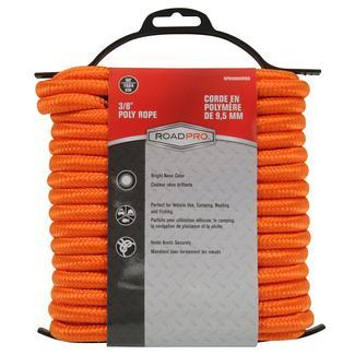 "Poly Rope, 50' x 3/8"", Orange"
