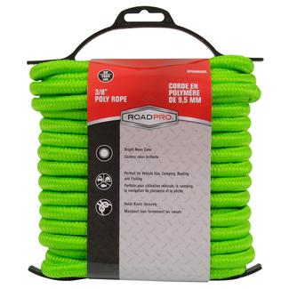 """Poly Rope, 50' x 3/8"""", Green"""