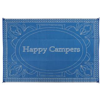 Happy Camper Patio Mat, 9' x 12', Navy