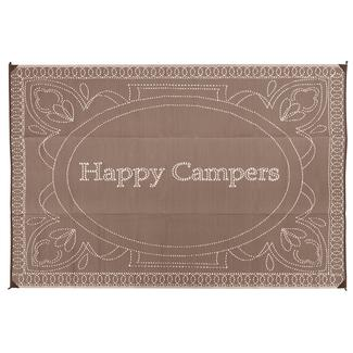 Happy Camper Patio Mat, 8' x 16', Brown
