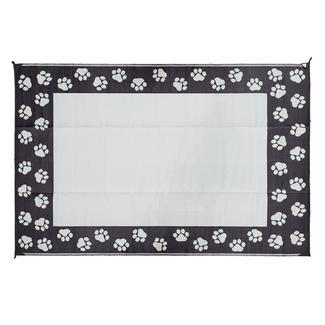 Pet Theme Patio Mats, 6' x 9', Black