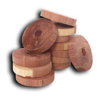 Cedar Hanger Rings, Set of 6