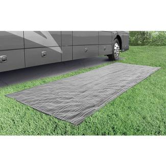 Prest-O-Fit Aero-Weave Breathable Outdoor Mat, 6' x 15', Gunmetal Gray