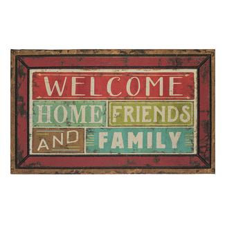 """Family & Friends Welcome Rubber Mats, 18"""" x 30"""""""