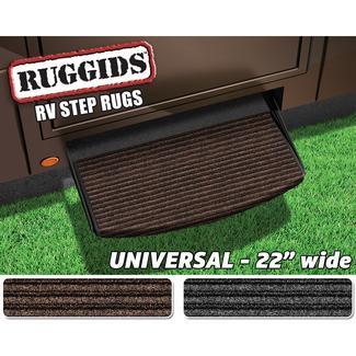 Universal RV Step Rug, 22&#x27&#x3b;&#x27&#x3b;, Coffee Brown
