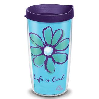 Tervis® Tumblers, Life is Good Flower, 16 oz.