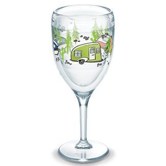 Tervis® Wine Glass, 9 oz., Retro RV Stem