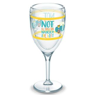 Tervis® Wine Glass, 9 oz., Not All Those Who Wander Are Lost Stem