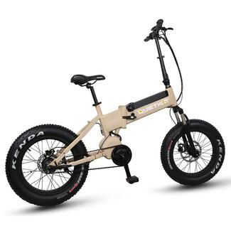 QuietKat F750-IBT Folding Electric Mountain Bike, Tan