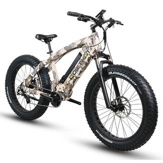 QuietKat 750-ICC Electric Fat-Tire Mountain Bike, Camouflage