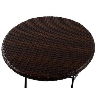 Outdoor Resin Wicker Folding Table, 24