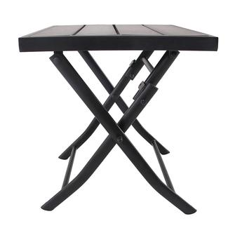 Faux Wood Patio Folding Side Table