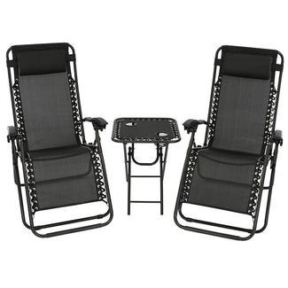 Akari Decor Zero Gravity Chair, Black
