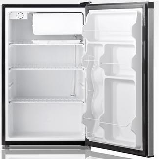 4.4 Cu. Ft. Free Standing Compact Refrigerator with Half-Width Chiller Compartment in Stainless Steel