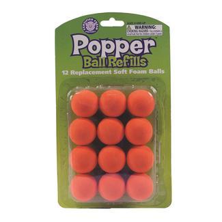 Atomic Power Popper Refill Balls, 12-Pack, Orange