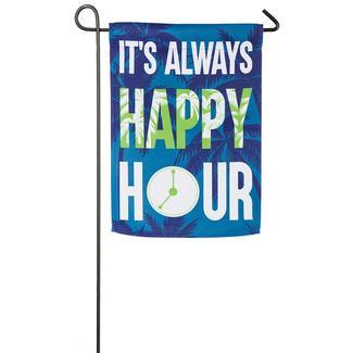 Happy Hour Garden Flag