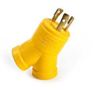 Power Grip 30 Amp M/2 x 15 Amp F Generator Adapter, 3-Prong