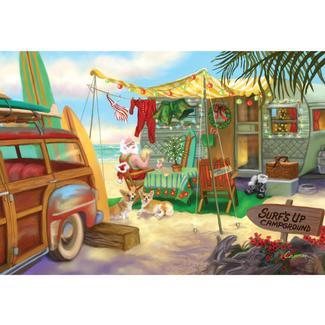RV-Themed Christmas Card, Beach Scene