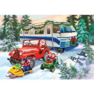 RV-Themed Christmas Card, Snow Scene