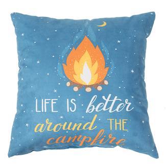 "Life Is Better Throw Pillows, 16"" x 16"""