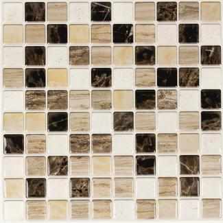 Peel and Stick Mosaic Wall Tiles, Capitol Reef- 5 Pack