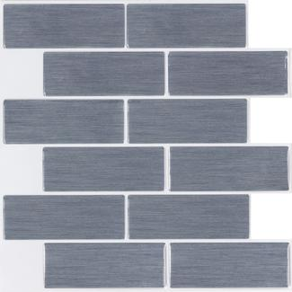 Peel and Stick Mosaic Wall Tiles, Heleakala Subway- 5 Pack