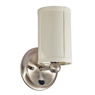 Satin Nickel LED Sidewall Light with Shade