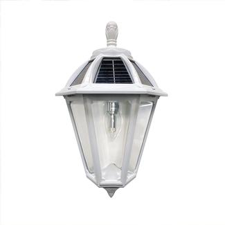 Polaris Solar Sconce with GS Solar LED Light Bulb, White Finish