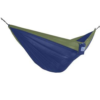 Vivere Parachute Hammock, Green &amp&#x3b; Navy