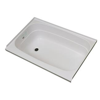 """Replacement ABS Bath Tub, 24"""" x 36"""", White with Left Drain"""