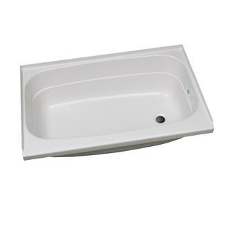 Replacement ABS Bath Tub, 24&rdquo&#x3b; x 38&rdquo&#x3b;, White with Right Drain